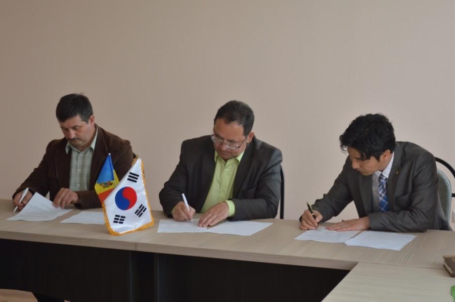 Delegația coreeană și română in vizită la Cimișlia